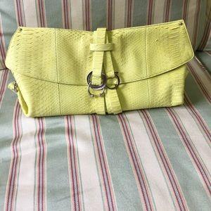 Salvatore Ferragamo Python Skin Clutch Bag